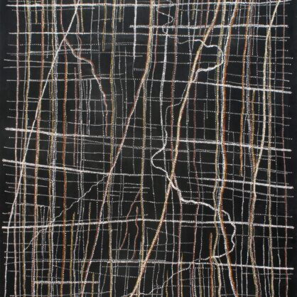 Dorothy Napangardi - Kanakurlangu (Digging Sticks) and Sandhills, 2008 - 152 x 183 cm - Cat 13739DN