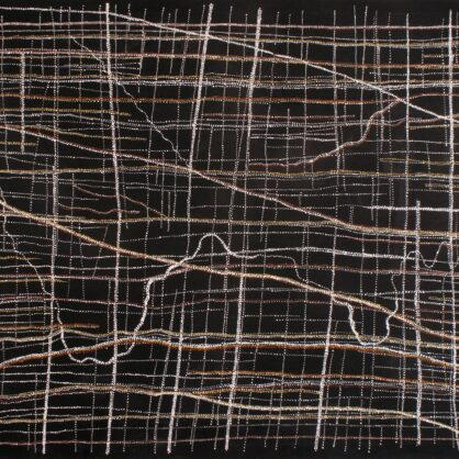 Dorothy Napangardi - Kanakurlangu (Digging Sticks) and Sandhills, 2008 - 183 x 152 cm - Cat 13739DN