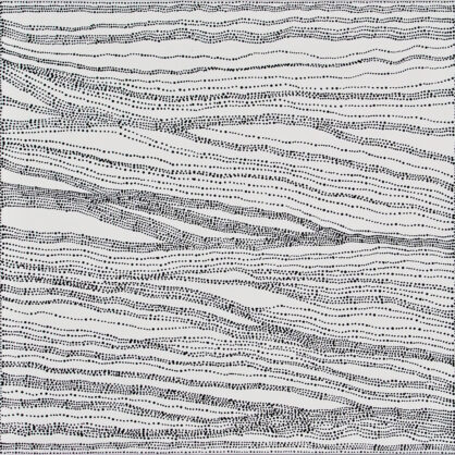 Dorothy Napangardi - Sandhills Meet Salt Country (2006) - 76 x 76 cm - Cat 9558DN
