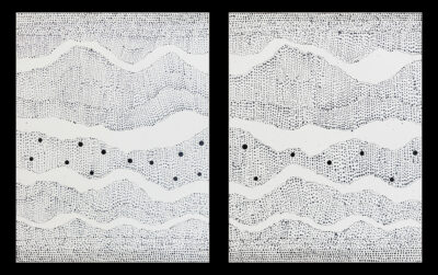 Julie Nangala Robinson - Pirlinyanu (Diptych) - 36 x 46 cm (each) - Cat 14259JR & 14260JR