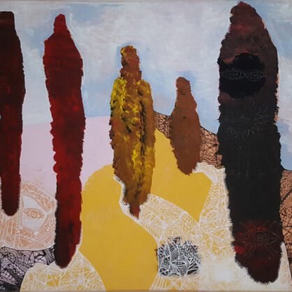 Rusiate Lali - Sacred Ceremony - A Desert Mob (2010) - 91 x 122 cm - Cat 14022RL