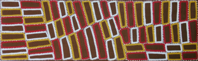 Walala Tjapaltjarri - Lake Mackay (& the Tingari Cycle) - 198 x 61 cm - Cat 9364WT