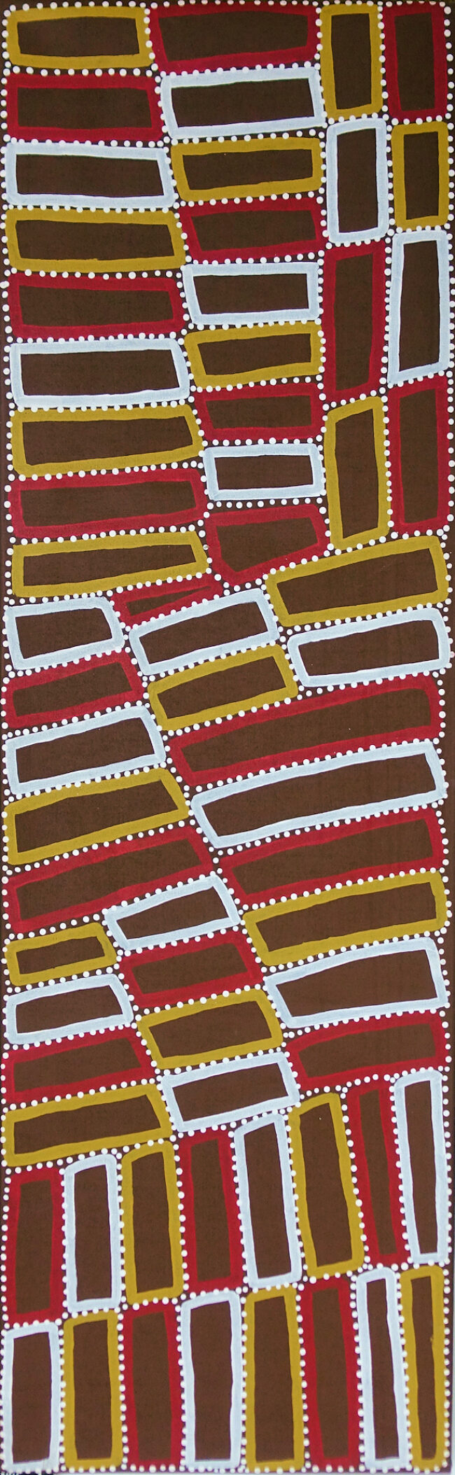 Walala Tjapaltjarri - Lake Mackay (& the Tingari Cycle) - 61 x 198 cm - Cat 9364WT